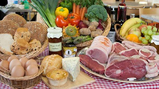 Selection of local produce