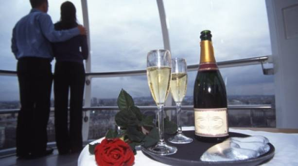 On board a Cupid's Capsule at the London Eye