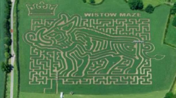 Wistow Maze aerial view