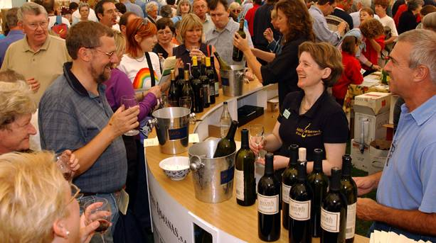 Wine tastings at Ludlow Food Festival