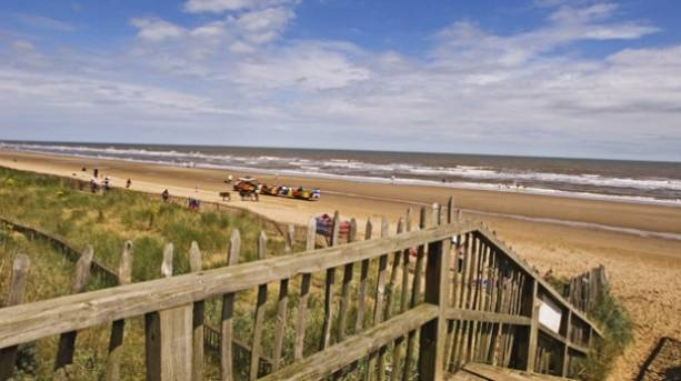 Family holiday at Mablethorpe Beach