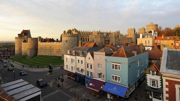 View from bedroom across to Windsor Castle