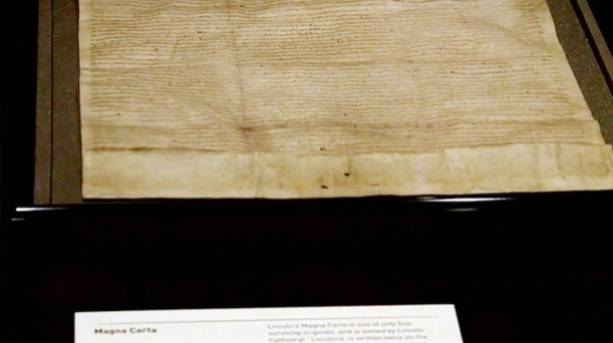 The 1215 Magna Carta document
