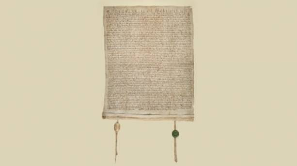 The historic Magna Carta document
