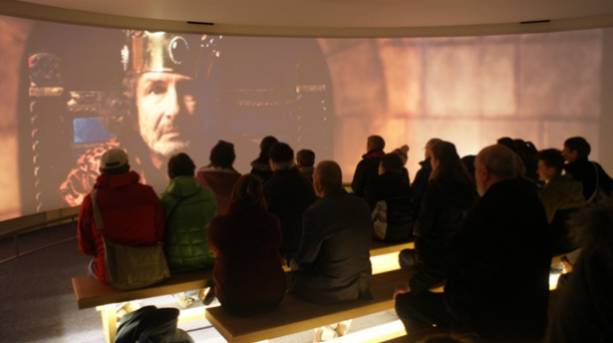 The text of Magna Carta in the Lincoln Magna Carta exhibition