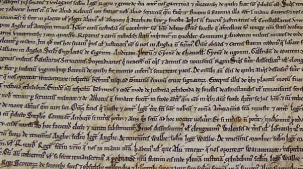 Magna Carta in Salisbury Cathedral