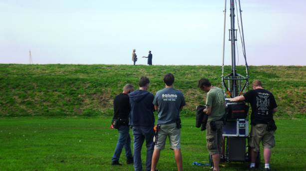 Broadchurch filming Marshalls Field Clevedon © North Somerset Council