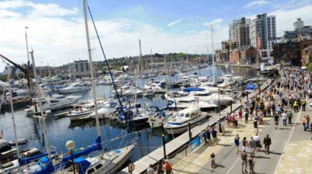 Stroll along Ipswich's Marina