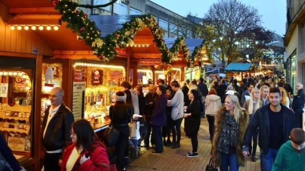 Christmas Market Stalls Bristol Shopping Quarter