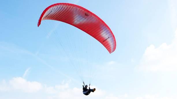 Hang gliding over the Marsden Moor Estate
