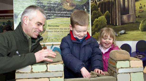 A family at the Dales Countryside Museum