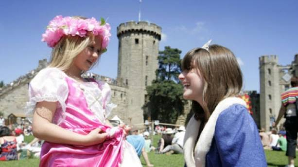 Children at Warwick Castle