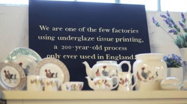 Underglaze tissue printing, Stoke-on-Trent