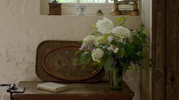 Cut flowers inside Monk's House