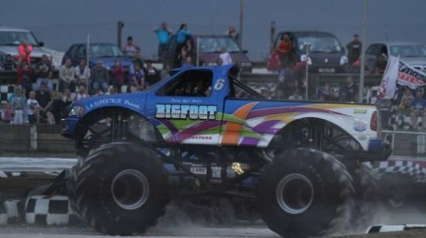 Monster trucks at Skegness Stadium