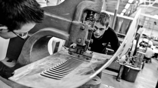 Take a tour of the Morgan car factory and visitor centre