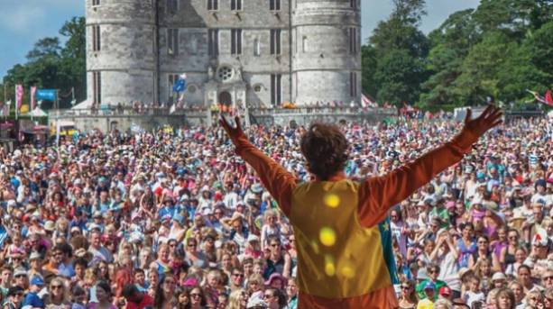 Mr Tumble entertaining the crowds at Lulworths Castle's Camp Bestival
