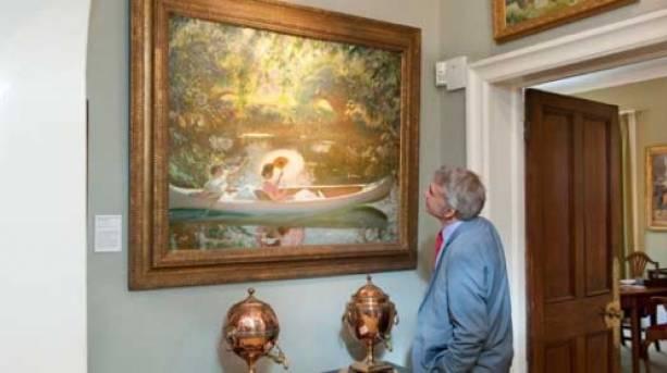 Explore the art works in elegant room settings.