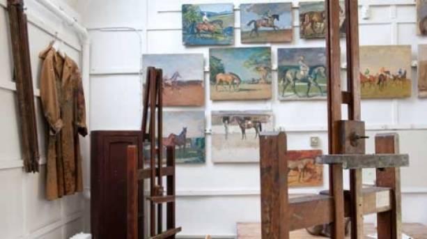 The artist's studio much as it was in the mid twentieth century