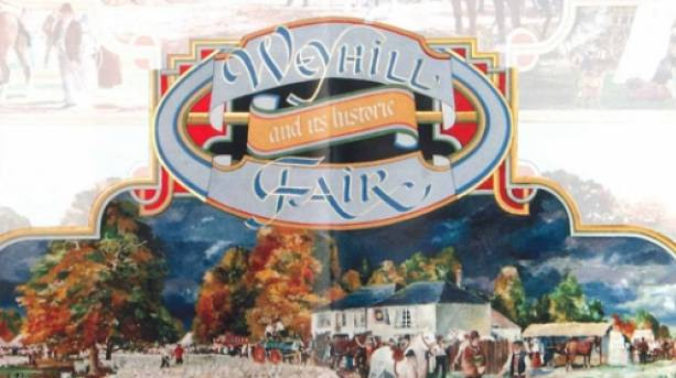 The Weyhill Fair mural at The Weyhill Fair Pub just outside of Andover
