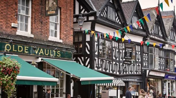 The quaint market town of Nantwich