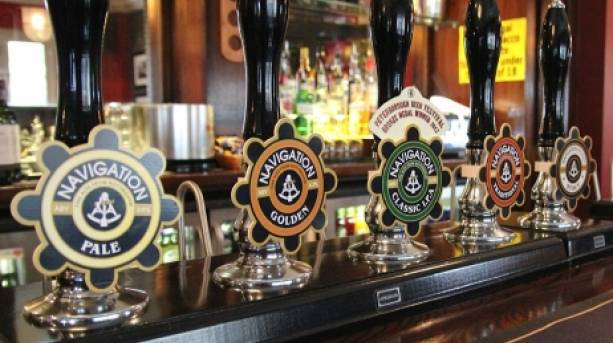 Beer clips at Navigation Brewery