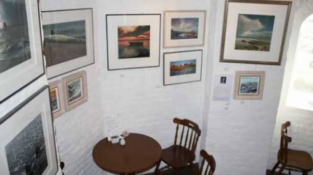 The tower houses over six floors an art gallery showcasing local talent.