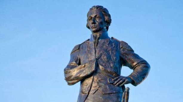 Statue of Admiral Lord Nelson in Old Portsmouth