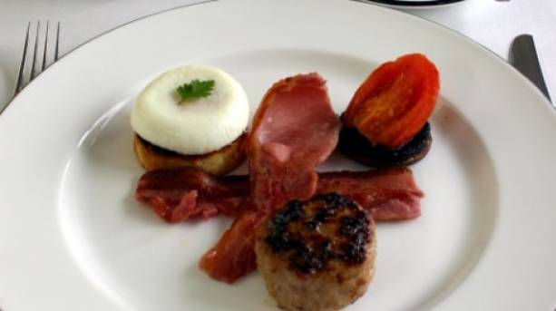New Forest breakfast using New Forest Marque produce.