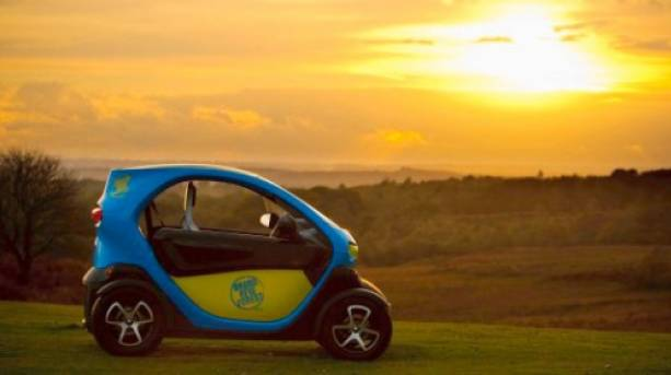 Brand New Forest Twizy at sunset