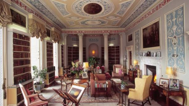 Interior image of Newby Hall Library