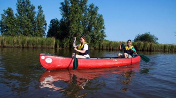 Canoeing at Waveney River Centre