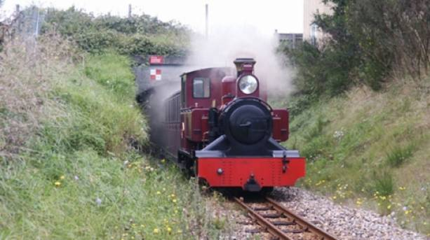 A steam train on Bure Valley Railway