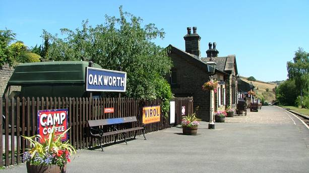 The beautiful village of Oakworth where the Railway Children was filmed