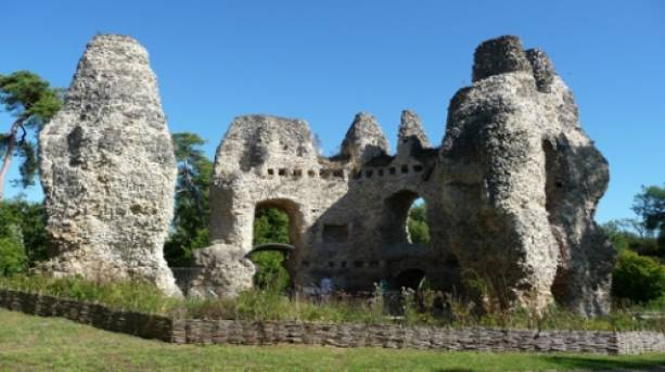 Odiham Castle, one of the sights along the Basingstoke Canal, Hampshire