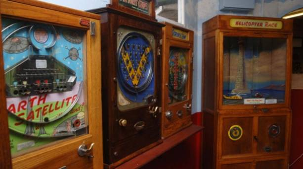 Old Penny arcade machines in the Old Penny Museum