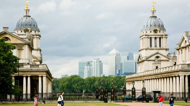 Old Royal Naval College, from Greenwich Park