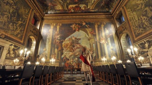 Painted Hall inside the Old Royal Naval College