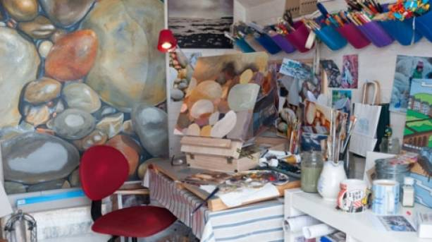 Typical Open Arts Studio Setup, Isle of Wight