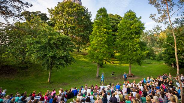 Audience at Dukes Outdoor Theatre, Lancaster
