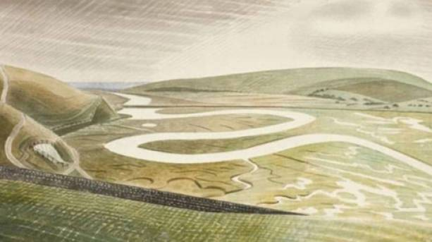 A painting of Cuckmere Haven by Eric Ravillious