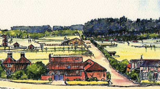 Artist sketch of Patchings Art Centre