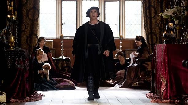 Mark Rylance as Thomas Cromwell in Wolf Hall, filmed at Penshurst Place