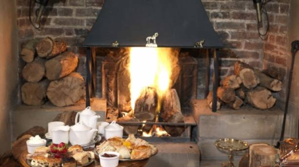 Fireside at Soulton Hall