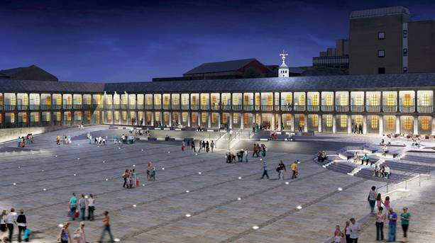 CGI of the redeveloped Piece Hall