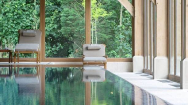 The pool at Luton Hoo Hotel, Golf & Spa