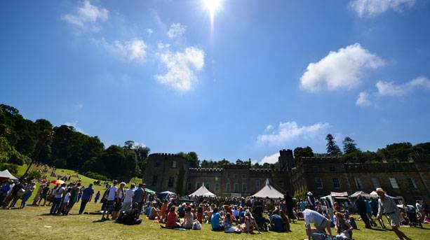A sunny summer's day at the Port Eliot Festival