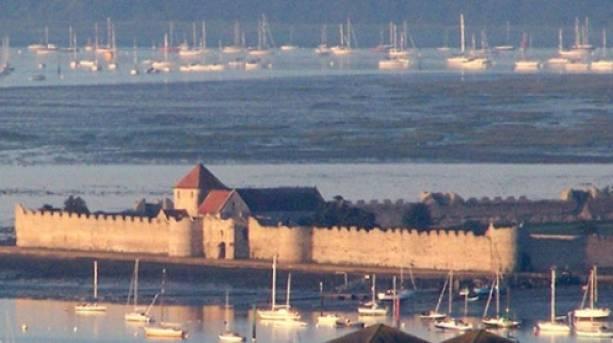 Portchester Castle Aerial Shot