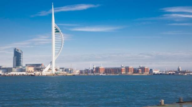 Portsmouth Harbour with Spinnaker Tower, Hampshire