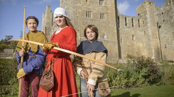 A reenactment at Bolton Castle